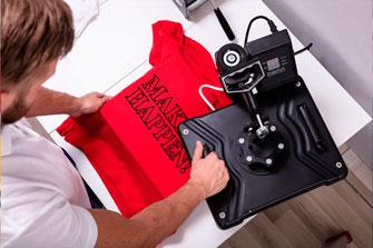 maquinas para produccion de acabados de estampados ropa